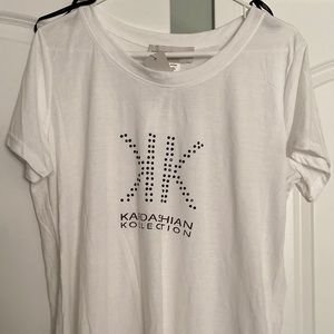 Kardashian kollection white logo tee 18W